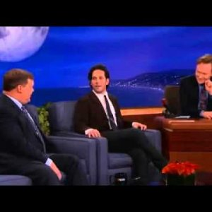 Paul Rudd repeatedly, over 15 years, convinces Conan to show the same clip regardless of what movie he's there to promote.