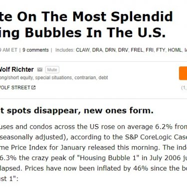 Update On The Most Splendid Housing Bubbles In The U.S.