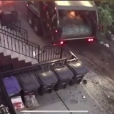 "CAR CRASH PAGE on Instagram: ""Surveillance video of the out of control garbage truck crashed in Brooklyn / New York All info in the previous post. Thanks to…"""