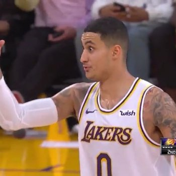 "Team Lakers on Instagram: ""After giving up his own shot to feed Tyson Chandler for a dunk, Kyle Kuzma double-checked that Luke Walton noticed.  ____________ ""Yeah, I…"""