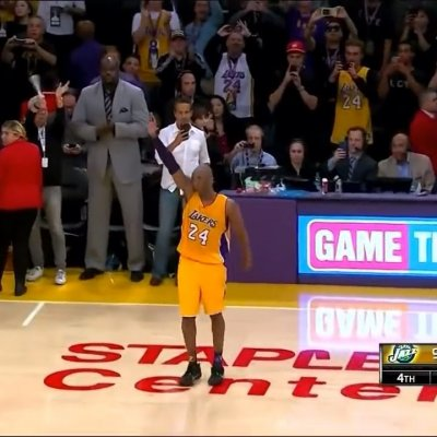 Kobe walked out of the floor for the last time ?  #Lakers #Lakeshow #Lakergang #Lakernation""